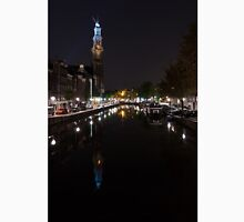 Magical Amsterdam Night - Blue Crown Skyline Unisex T-Shirt