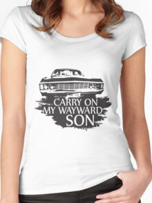 CARRY ON MY WAYWARD SON  Women's Fitted Scoop T-Shirt