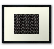 Goyard Case Black Framed Print