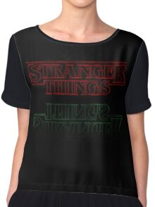 Stranger Things - Title Flip Chiffon Top