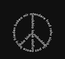 Typographic peace Unisex T-Shirt