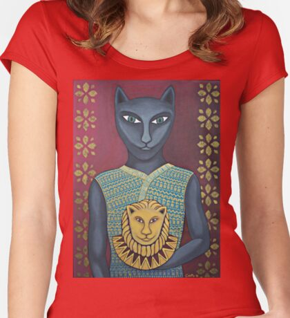 Bast, Egyptian Goddess of Play Women's Fitted Scoop T-Shirt