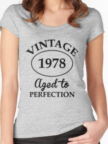 vintage 1978 aged to perfection Women's Fitted Scoop T-Shirt