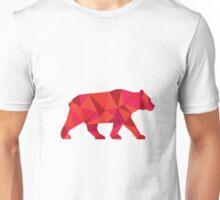 American Black Bear Walking Low Polygon Unisex T-Shirt