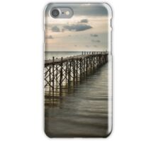 Wooden beach pier with color filter effect iPhone Case/Skin