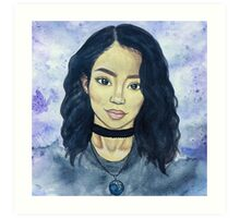 jhene aiko watercolor Art Print