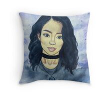 jhene aiko watercolor Throw Pillow