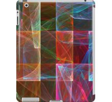 Abstract Checkered Pattern Fractal Flame iPad Case/Skin
