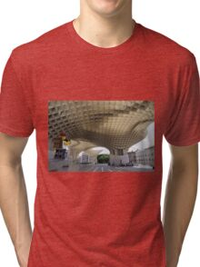 The Lego Backpacker in Seville Tri-blend T-Shirt