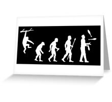 Funny Evolution Juggling Greeting Card