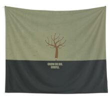 Grow Or Die Simple - Corporate Start-up Quotes Wall Tapestry