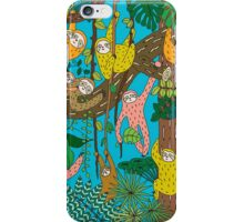 Sloths Jammed Jungle  iPhone Case/Skin