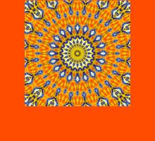 Mandala FOX IS WATCHING YOU - orange blue Unisex T-Shirt