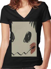 Mimikyu print T Women's Fitted V-Neck T-Shirt