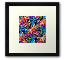 Sea Life Abstract Alcohol Ink Framed Print