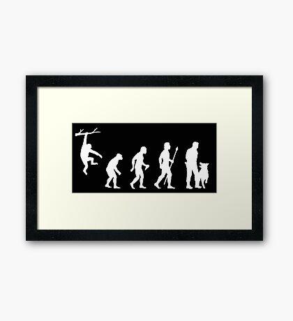Evolution Of Man Police Dog Framed Print