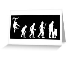 Evolution Of Man Police Dog Greeting Card