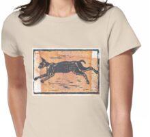 CT Block Print Art - Caracal Womens Fitted T-Shirt
