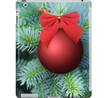 Red Christmas bauble on a fir tree iPad Case/Skin