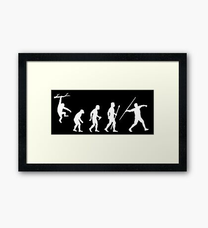 Funny Javelin Evolution  Framed Print