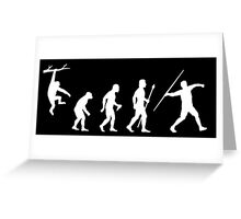 Funny Javelin Evolution  Greeting Card
