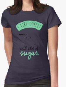 I like coffee Womens Fitted T-Shirt