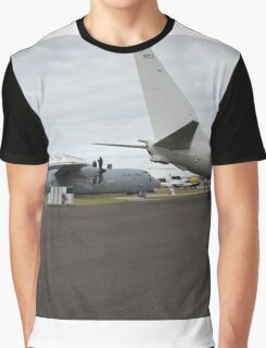 US Air Force and US Navy planes on show at the Futures Day & FAB Friday at Farnborough International Airshow Graphic T-Shirt