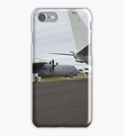 US Air Force and US Navy planes on show at the Futures Day & FAB Friday at Farnborough International Airshow iPhone Case/Skin