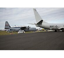 US Air Force and US Navy planes on show at the Futures Day & FAB Friday at Farnborough International Airshow Photographic Print