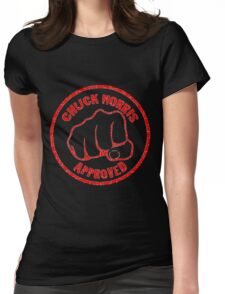 Chuck Norris Approved Super Fist Womens Fitted T-Shirt
