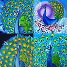Peacock Collage by cathyjacobs