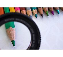 Sharpened coloured pencil crayons  Photographic Print