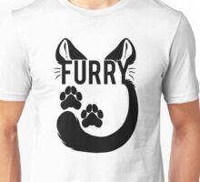 FURRY -feline - black text- Unisex T-Shirt