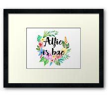 Alfie (Deyes) Is Bae Framed Print