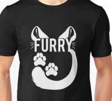 FURRY -feline - white text- Unisex T-Shirt