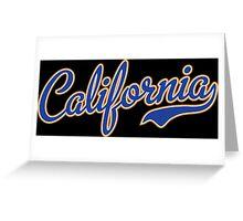 California Script Font Blue Greeting Card