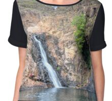 Maguk Waterfall Chiffon Top