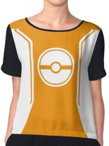 Pokemon Go Trainer Orange Chiffon Top