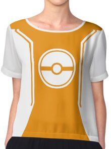 Pokemon Go Trainer Orange Chiffon Top