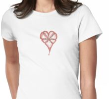 Give 'em Heart Womens Fitted T-Shirt