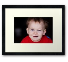 cute little boy Framed Print