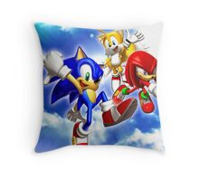 Sonic & Tails & knuckles Throw Pillow