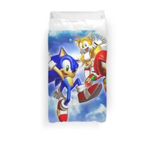 Sonic & Tails & knuckles Duvet Cover
