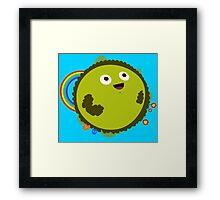 Happy Green Planet Framed Print