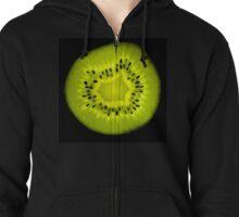 Kiwi fruit cross-section Zipped Hoodie