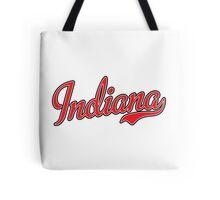 Indiana Script Red Tote Bag