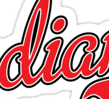 Indiana Script Red Sticker