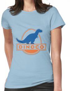 Dinoco Sky Blue Childrens Womens Fitted T-Shirt