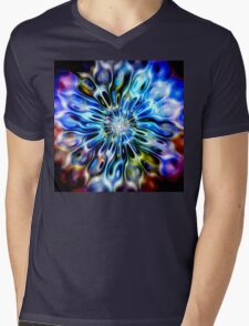Magic Ripples FLOWER - multicolored Mens V-Neck T-Shirt