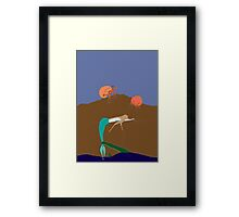 sea monster 2 Framed Print